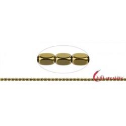 Strang Quader gerundet Hämatin gold (gefärbt) 5 x 3 mm