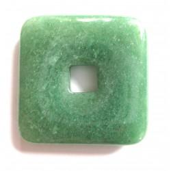 Donut Quadrat Aventurinquarz grün 40 mm