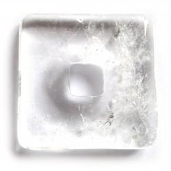 Donut Quadrat Bergkristall 30 mm