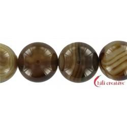 Strang Kugel Achat braun (gefärbt) 20 mm
