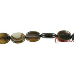 Strang Linse Achat braun (gefärbt) 20x15 mm