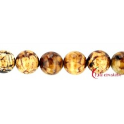 Strang Kugel Achat (Savanne) 12 mm
