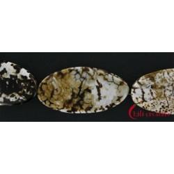 Strang Linse Achat (Savanne) 50mm / 35cm