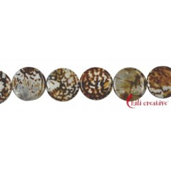 Strang Coin Achat (Savanne) 25 x 5 mm