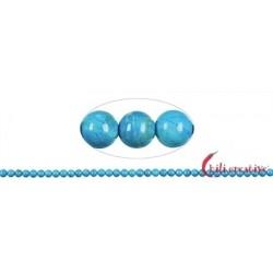 Strang Kugel Turquenit (Magnesit blau gefärbt) 4 mm