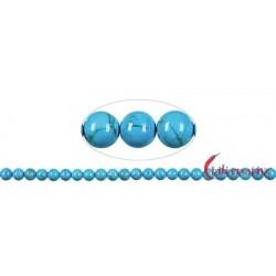 Strang Kugel Turquenit (Magnesit blau gefärbt) 8 mm