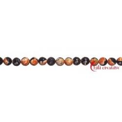 Strang Kugel Achat (Sunset) orange (gefärbt) facettiert 10 mm