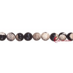 Strang Kugel Achat (Moonlight) creme (gefärbt) facettiert 16 mm