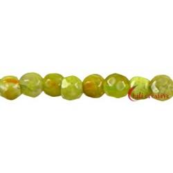 Strang Kugel Pistazien Opal fac., 4 mm