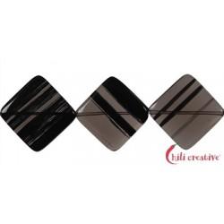Strang Quadrat diagonal gebohrt Obsidian (Lamellen-Obisidian) 20 mm