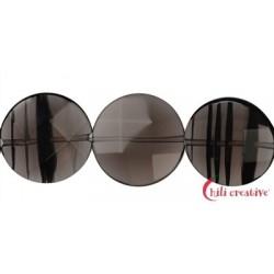 Strang Coin Obsidian (Lamellen-Obsidian) facettiert 20 mm