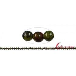 Strang Kugel Drachenstein (Epidot-Quarzit) 3 mm