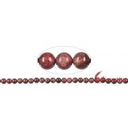 Strang Kugel Piemontit-Quarz 8 mm