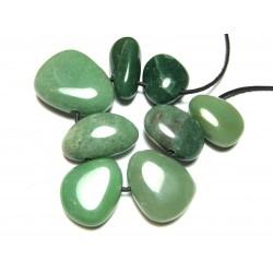 Trommelstein gebohrt Aventurinquarz grün 500 g
