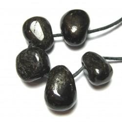 Trommelstein gebohrt Granat rot VE 5 Stück