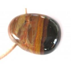 Trommelstein gebohrt Sardonyx A
