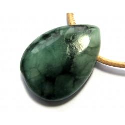 Trommelstein gebohrt Smaragd A