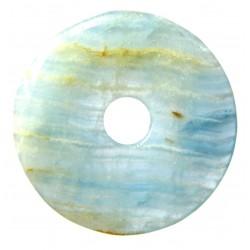 Donut Aragonit-Calcit blau 50 mm