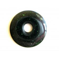 Donut Grünfluss (Kunstglas) 40 mm